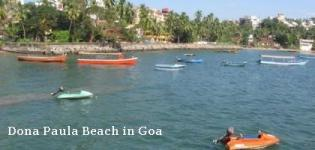 Dona Paula Beach in North Goa India - Information - Attraction - Details - Photos