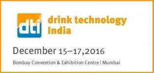 Drink Technology India 2016 - International Trade Fair for Beverage & Food Industry in Mumbai