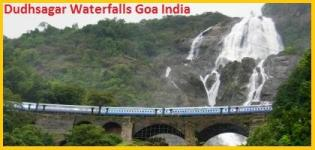 Dudhsagar Waterfalls Goa India - Location of Dudhsagar Falls - Photos Images