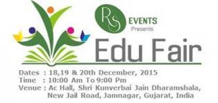 EDU Fair 2015 in Jamnagar at Kunwarbai Jain Dharamshala Presents by RS Events - Details