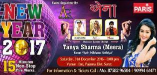 ENA New Year Party 2017 in Surat with Tanya Sharma aka Meera - Saath Nibhaana Saathiya
