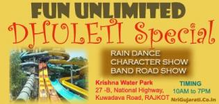 Enjoy DHULETI at KRISHNA Water Park RAJKOT with Rain Dance
