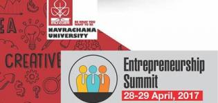 Entrepreneurship Summit 2017 in Vadodara at Navrachana University Baroda