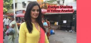 Evelyn Sharma in Yellow Anarkali Dress with Pink Dupatta - Ishqedarriyaan Movie Promotion Pics