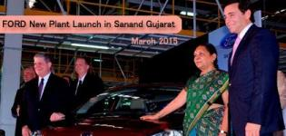 FORD India Inaugurated New Manufacturing Plant in Sanand Gujarat on 26th March 2015
