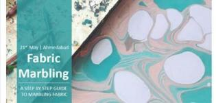 Fabric Marbling Workshop for an Art Learning People in Your City Ahmedabad