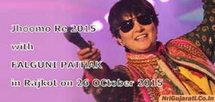 Falguni Pathak in Rajkot at The Elegance Party Plot for Jhoomo Re 2015 Presents by United Events