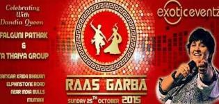 Falguni Pathak Navratri Raas Garba 2015 in Mumbai Presents by Exotic Eventz