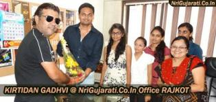 Famous Gujarati Singer KIRTIDAN GADHVI at NriGujarati.Co.In Rajkot Gujarat on 30 September 2015