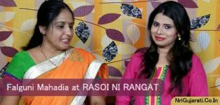 Famous Gujarati TV Personality / Anchor / Model Falguni Mahedia at RASOI NI RANGAT Program