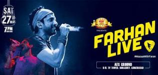 Farhan Akhtar Live in Concert in Ahmedabad Gujarat on 27th May 2017