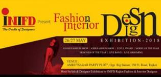 Fashion and Interior Designing Exhibition 2018 by the Designer of INIFD in Rajkot