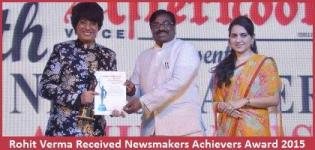 Fashion Designer Rohit Verma Received Newsmakers Achievers Award 2015