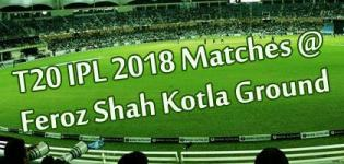 Feroz Shah Kotla Ground Twenty20 IPL 2018 Match Schedule Details - Delhi Daredevils Home Ground