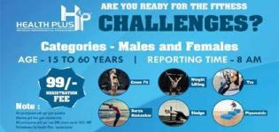 Fitness Challenges Event for Males and Females by Health Plus in Ahmedabad