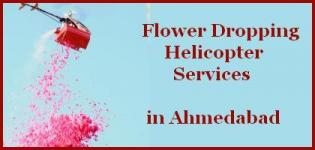 Flower Dropping Helicopter Services in Ahmedabad Gujarat