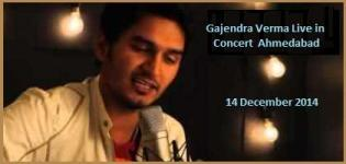 Gajendra Verma Live in Concert at Ahmedabad Gujarat on 14 December 2014