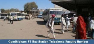 Gandhidham ST Bus Station Telephone Enquiry Number - Depot Information Contact No Details