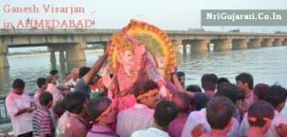 Ganesh Visarjan in Ahmedabad - Live Ganpati Visarjan Ahmedabad Places Images New Pics