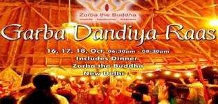 Garba Dandiya Raas 2015 in New Delhi at Zorba the Buddha on 16 to 18 October