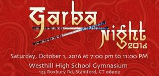 Garba Night 2016 in Stamford CT at Westhill High School with DJ Rahul