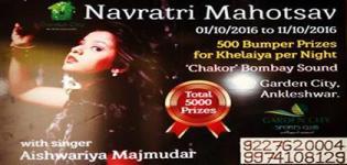 Garden City Navratri Mahotsav 2016 with Singer Aishwarya Majmudar in Ankleshwar