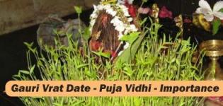 Gauri Vrat Katha Importance - Pooja Vidhi - Molakat Vrat Food Fasting - Gauri Vrat Date