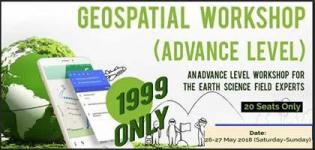Geospatial an Advance Level Workshop 2018 Arrange in Gandhinagar for Science Field Expert