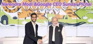 Google CEO Sundar Pichai welcomes Indias Narendra Modi to Silicon Valley USA