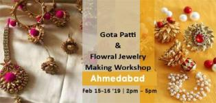 Gota Patti and Floral Jewelry Making Workshop in Ahmedabad Details