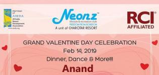 Grand Valentine Day Celebration 2019 at Neonz Lifestyle and Recreation Club in Anand