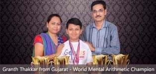 Granth Thakkar from Vapi Gujarat - New World Mental Arithmetic Champion in Germany