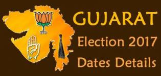 Gujarat Election 2017 Dates - Gujarat Vidhan Sabha Elections 2017 Voting & Results Date