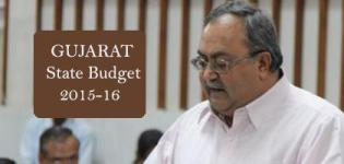 Gujarat State Budget 2015-16 Highlights  News Present By Finance Minister Saurabh Patel
