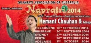 Gujarati Association of Australia Celebrates Navratri 2014 with Hemant Chauhan & Group