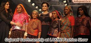 Gujarati Craftmanship at Lakme Fashion Week 2015 by Famous Lady Designer ANITA DONGRE