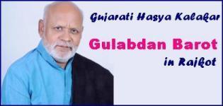 Gujarati Hasya Kalakar Gulabdan Barot in Rajkot for Hasya nu Dhinganu