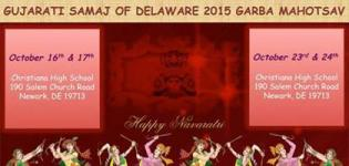 Gujarati Samaj of Delaware Presents Garba Mahotsav 2015 at Christiana Highschool Newark USA