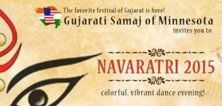 Gujarati Samaj of Minnesota Presents Navratri 2015 at Bloomington Public Schools Bloomington