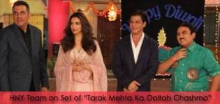 HNY Team Deepika Padukone and Shah Rukh Khan on Set of 'Tarak Mehta Ka Ooltah Chashma'