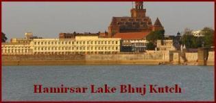Hamirsar Lake Bhuj - Hamirsar Talav Bhuj Kutch