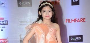 Harshaali Malhotra in Peach One Shoulder Gown at FilmFare Awards 2016 Mumbai