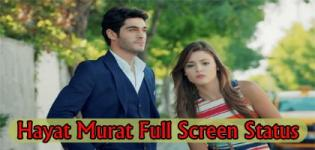 Hayat and Murat Full Screen Status Video - Murat Hayat Love Status Video