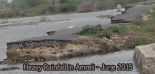 Heavy Rainfall in Amreli Bagasara Gujarat - June 2015 Flood Images Latest Photos