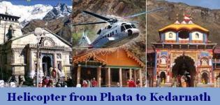 Helicopter from Phata to Kedarnath - Fare Booking Charges Online Service