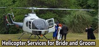 Helicopter Services for Bride and Groom