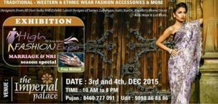 High Fashion Exhibitino 2015 in Rajkot at The Imperial Palace on 3rd and 4th December