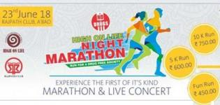 High on Life Night Marathon 2018 Arrange with Live Concert in Ahmedabad City