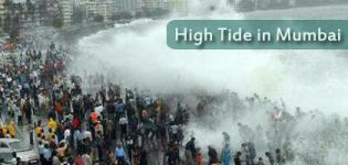 High Tide in Mumbai Images - Latest Pics of Mumbai Sea High Tide - Photos Gallery