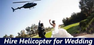 Hire Helicopter for Wedding in India
